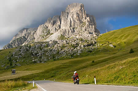 Motorcycling Dolomites
