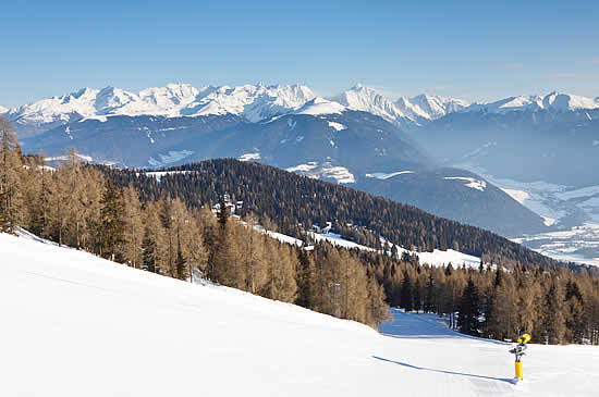 Skiing on the Kronplatz